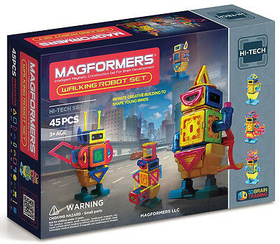 Magformers 45 Pcs Walking Robot Set Magnetic  Construction 63137 New AUTHENTIC