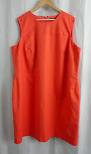 RALPH LAUREN Women's ORANGE sleeveless DRESS Sz 22W plus size
