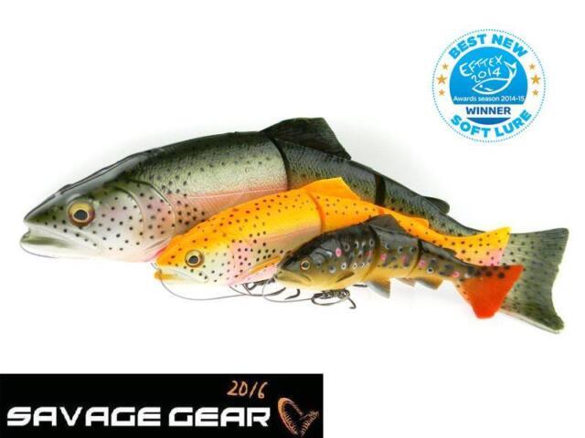 15cm 20cm 25cm All Colours SS MS Savage Gear 4D Line Thru TROUT