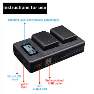 LCD-Display-Camera-NP-FW50-Battery-Smart-Charger-for-Sony-Alpha-A6000-A6300
