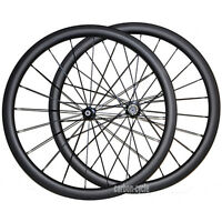 40mm Carbon Tubular Wheel Set Front&rear Road Bike Ud Matt Wheel 27mm Rim Wide