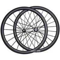 40mm Carbon Tubular Wheel Set Front&rear Road Bike Ud Matt Wheel 27mm Rim Wide