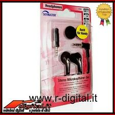 AURICOLARI STEREO JACK 3,5 & 2,5 CUFFIE IPHONE IPOD MP3 PC MP4 COMPUTER LETTORI