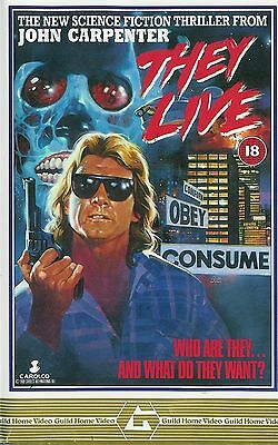 1988 They Live Poster Vintage Movie Art Silk Poster 13x20 24x36 inch J610