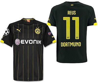 Puma Marco Reus Bvb Borussia Dortmund Uefa Champions League Away Jersey 2014 16 Ebay