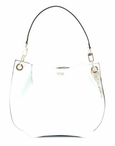 GUESS Digital Hobo Schultertasche Umhängetasche Tasche White Weiß Neu