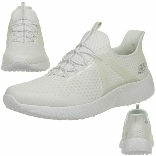 Skechers Men's Burst-Shinz Low-Top Sneakers White 52115  BR
