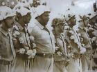 Photo presse vintage 1963 Retour des soldats égyptiens du Yemen & Nasser