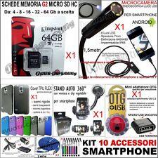 KIT 10 ACCESSORI TELECAMERA MICRO SD 32G CARICA CAVO PER SAMSUNG GALAXY S3 i9300