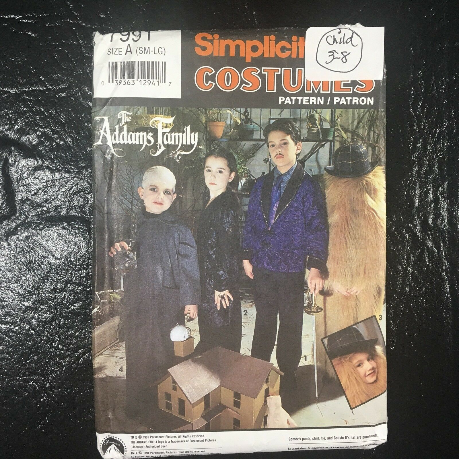 Simplicity Pattern 7991 The Addams Family Childs Gomez Morticia