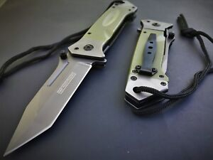 MILITARY-COMBAT-TANTO-SPRING-ASSISTED-TACTICAL-RESCUE-GREEN-G-10-FOLDING-KNIFE