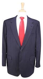 Brioni-Recent-Gray-Black-Navy-Striped-2-Button-Luxury-Wool-Men-039-s-Suit-46L