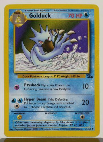 Golduck Uncommon Pokemon Card Fossil Series 35//62