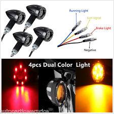 Amber LED Turn Signal lights Indicators Rear Brake Lamp Universal Motorcycle 4pc