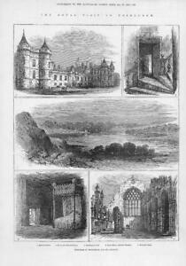 1881-Antique-Print-SCOTLAND-EDINBURGH-Royal-Visit-Holyrood-Palace-207