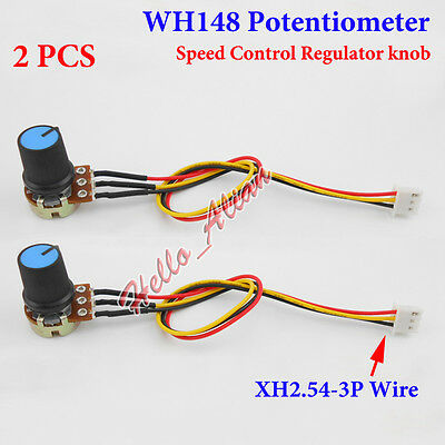 20 Set of  WH148 Pot B10K 10K Ohm Linear Potentiometer Shaft 15x17mm 3 Pin