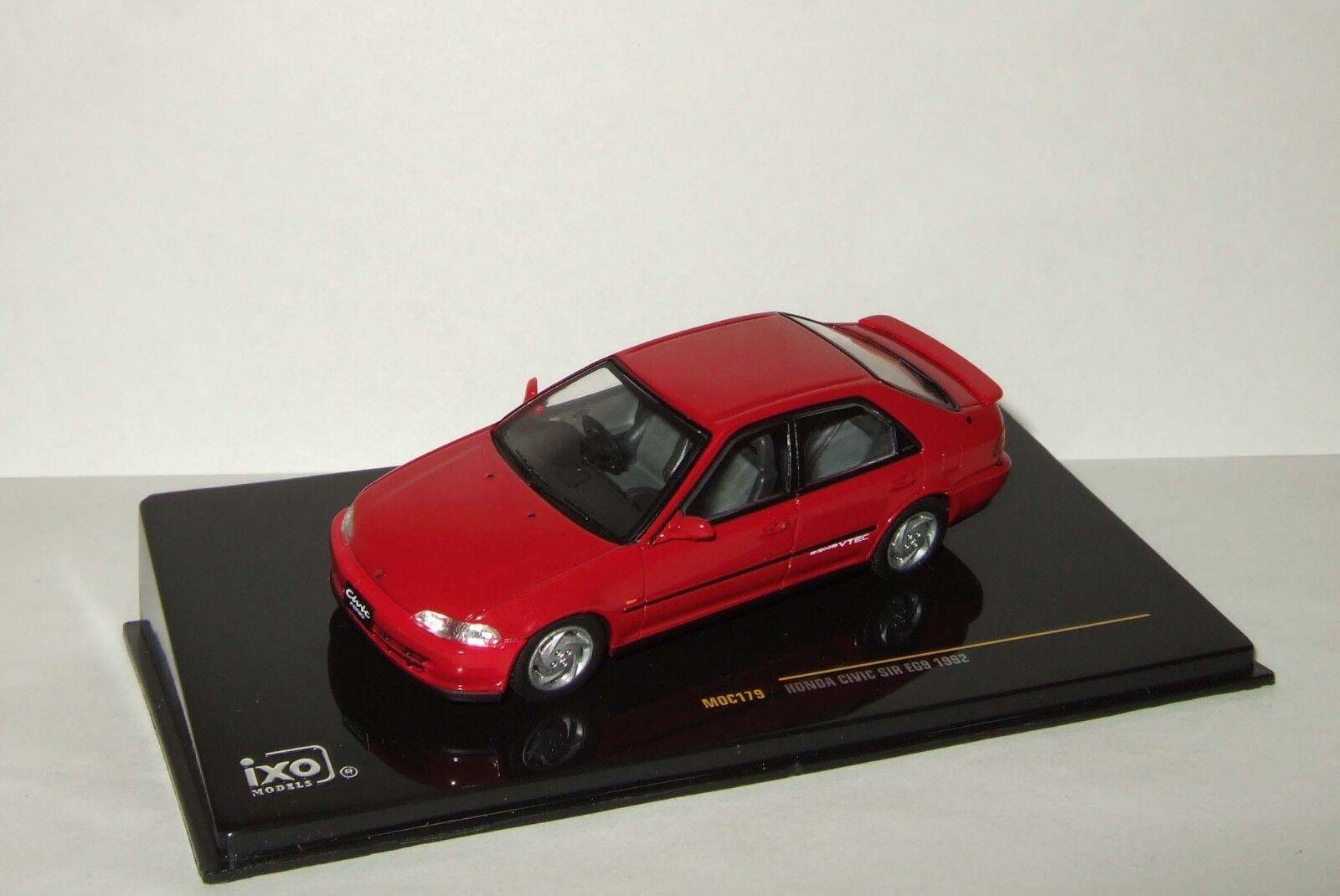 1 43 IXO Honda Civic SIR EG9 1990 Red limousine MOC179