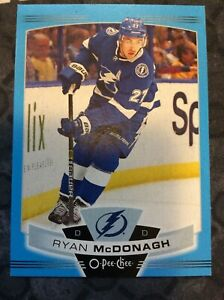 O-Pee-Chee-2019-2020-RYAN-MCDONAGH-BLUE-BORDER-HOCKEY-CARD-380