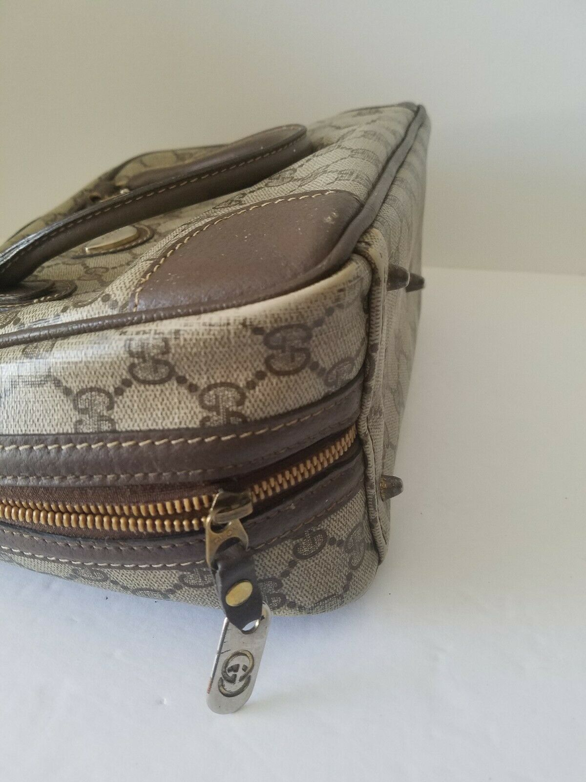 AUTHENTIC GUCCI GG MONOGRAM LEATHER/PVC DOCTOR BA… - image 12