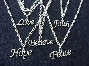 Words-Letters-034-Love-Hope-Peace-Believe-Faith-034-Charm-Necklace-with-boho-hippy
