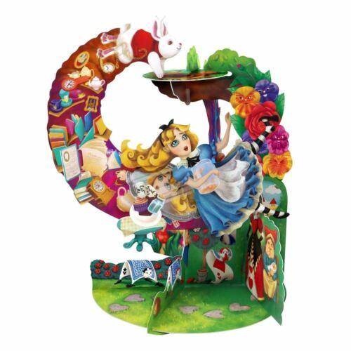 Santoro 3D Pop-Up Pendulum Card Alice In Wonderland