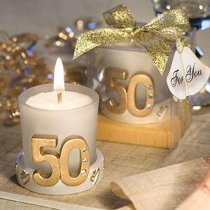 Bomboniera Portacandela Candela Anniversario 50 Anni Cod 389 Ebay