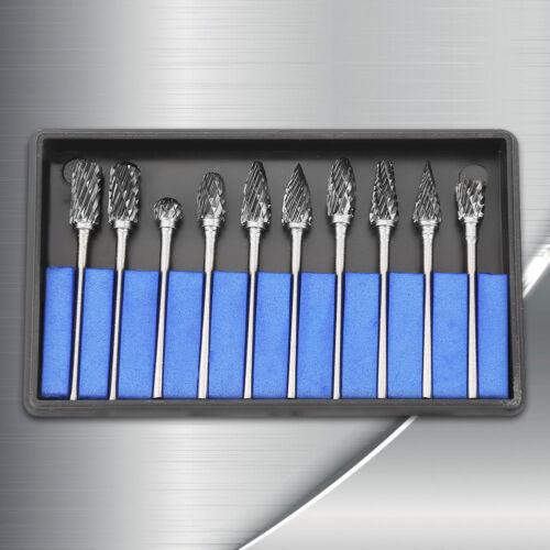 Schaftfräser Frässtifte Set 10tlg 2.35mm x 6mm Stiftfräser Hartmetall Stahl