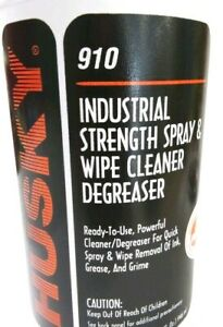 Husky Industrial Strength Spray And Wipe Cleaner Degreaser
