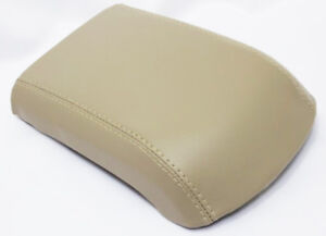 Synthetic Leather Beige Center Console Lid Armrest Cover Fits 02-09 GMC Envoy