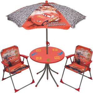 Image is loading Arditex-Disney-Kids-039-Table-and-Chairs-Set-  sc 1 st  eBay & Arditex Disney Kidsu0027 Table and Chairs Set for Garden Disney Cars | eBay