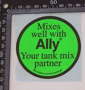 VINTAGE-DUPONT-MIXES-WELL-WITH-ALLY-ADVERTISING-PROMO-STICKER-POS-SHOP-DECAL