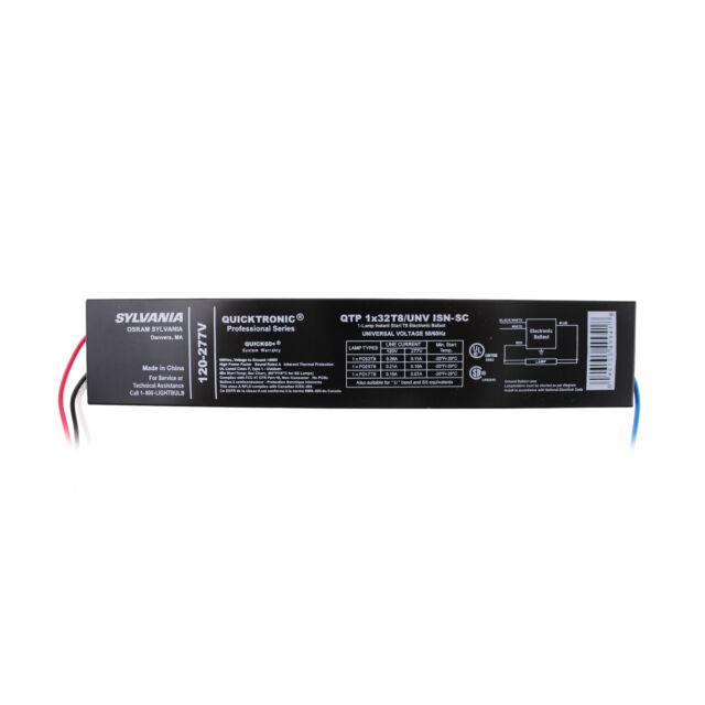 Sylvania Quicktronic QTP1X32T8//UNV ISN-SC 120-277V NEW