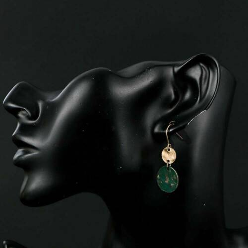 Vintage Retro Copper Brass Round Drop Earrings Dangle women Jewelry Party Gift