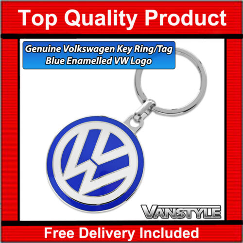 VW T5 TRANSPORTER /& CARAVELLE KOMBI GENUINE VOLKSWAGEN KEY RING TAG BLUE LOGO