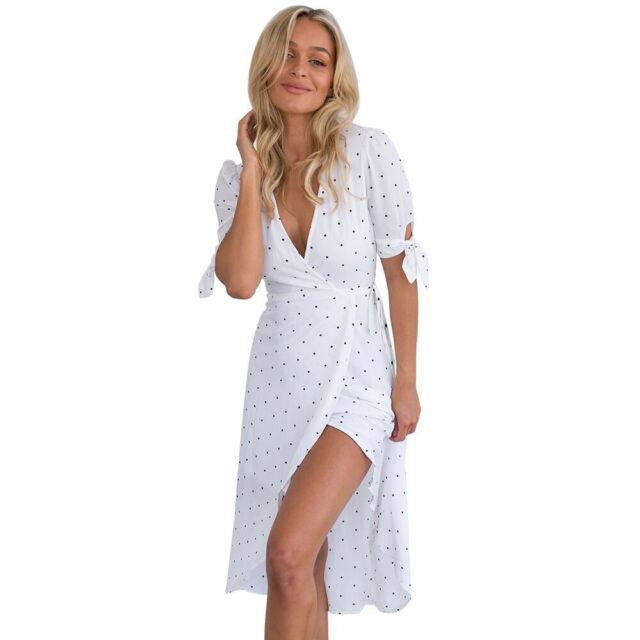 571b3f6435 Buy Women's Summer V Neck Boho Long Maxi Evening Party Beach Dress ...