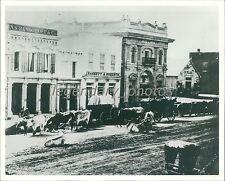 1860s Zions First National Bank Salt Lake City Utah Original News Service Photo
