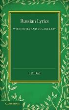 Russian Lyrics : With Notes and Vocabulary (2014, Paperback)