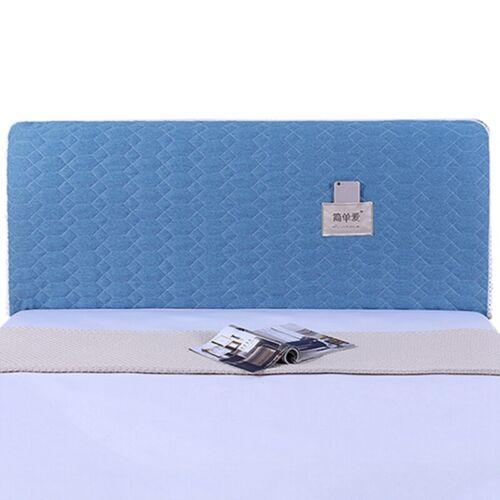 Simple Bed Head Cover Comfort Bedside Dust-proof Cover Pocket Design 120-220cm