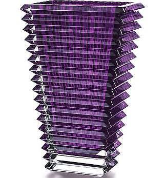 Baccarat Eye Purple Tall Rectangular Vase 2802308