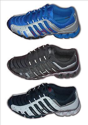 Boys Trainers Fashion Lightweight AVENGER Black White/Navy Silver/Blue sizes 2-6