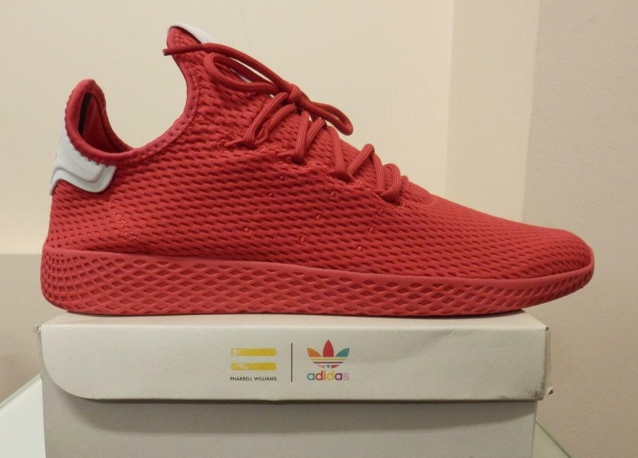 Men Adidas Pharrell Williams PW Tennis Hu BY8720 Red sizes  9, 10.5, 11, 12