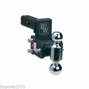 B-amp-W-Tow-amp-Stow-Trailer-Hitch-Dual-Ball-Mount-3-034-Drop-3-1-2-034-Rise-TS10035B