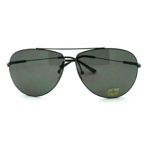 Gunmetal Men/'s Wire Rim Sniper Light Weight Aviator Sunglasses