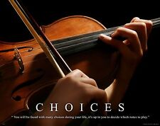 Musical Instruments Motivational Poster Art Print Violin Band Sheet Music MVP177