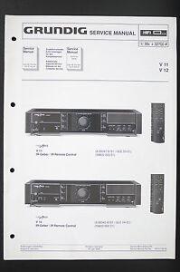 grundig v 11 v 12 amplifier amplifier service manual wiring diagram rh ebay com 1960s Grundig Stereo Console Grundig TV