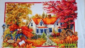 NEW-Completed-Cross-stitch-finished-Autumn-home-decor-gifts