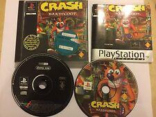 ORIGINAL PS1 PLAYSTATION 1 PSone GAME CRASH BANDICOOT 1 PICTURE DISC Ver' +DEMO
