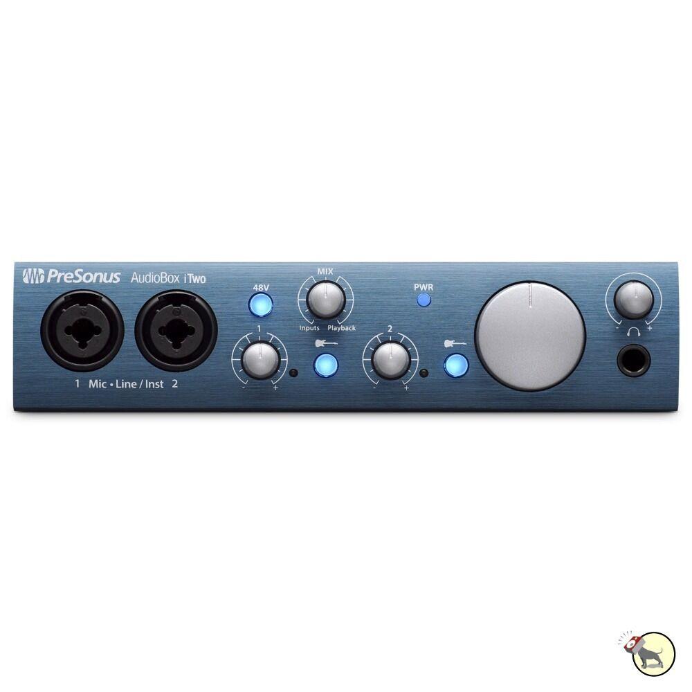 PreSonus AudioBox iTwo 2x2 USB 2.0 & iOS Studio One Recording Interface System