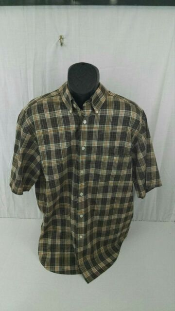 Turnbury Long Sleeve Shirt - Size Large - Brown and Red Plaid