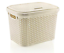 Large-20-Litre-Plastic-Rattan-Storage-Box-with-Lid-Stackable-Basket-Container thumbnail 3